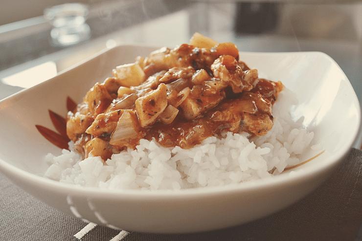 kurczak z sosem słodko-kwaśnym