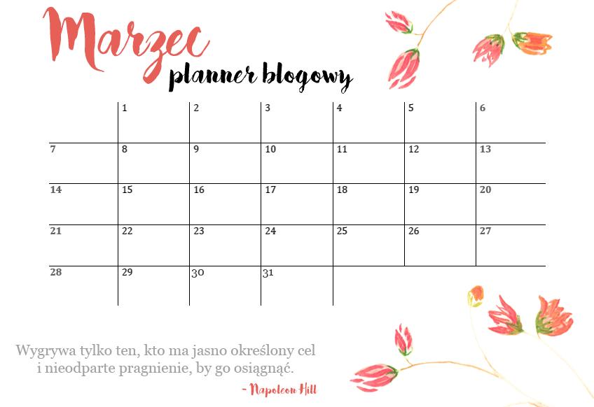 planner blogowy marzec
