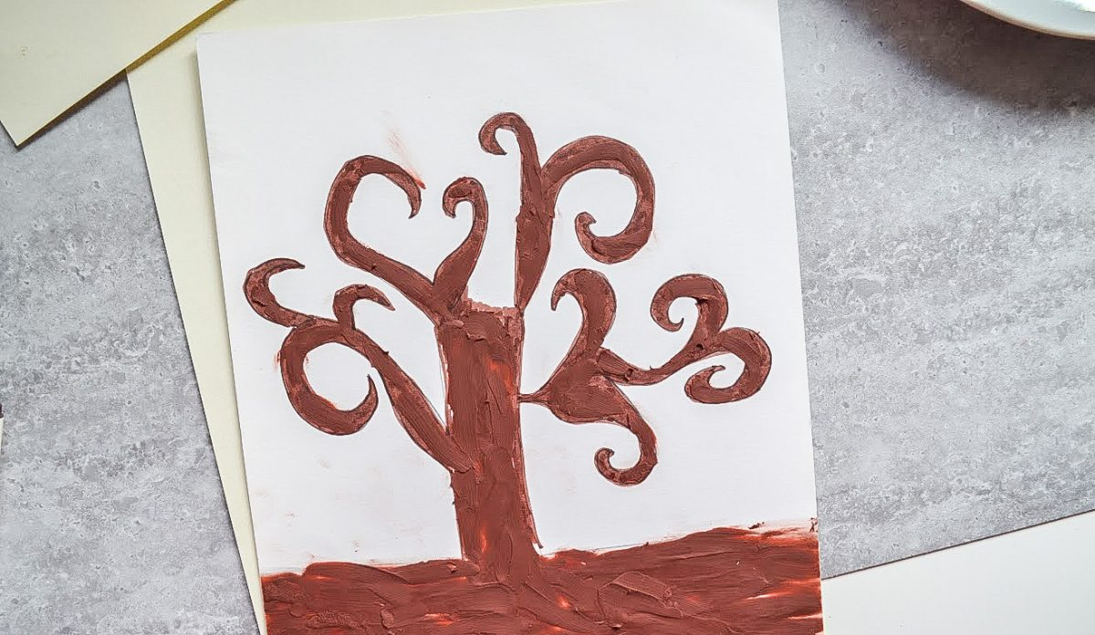 praca plastyczna drzewo